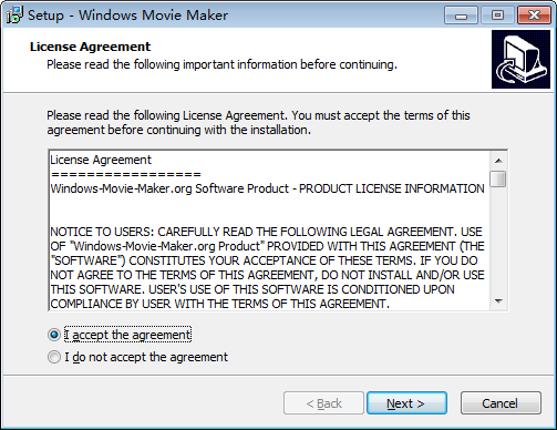 install windows movie maker step 2