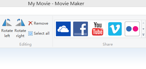 upload to youtube facebook windows movie maker
